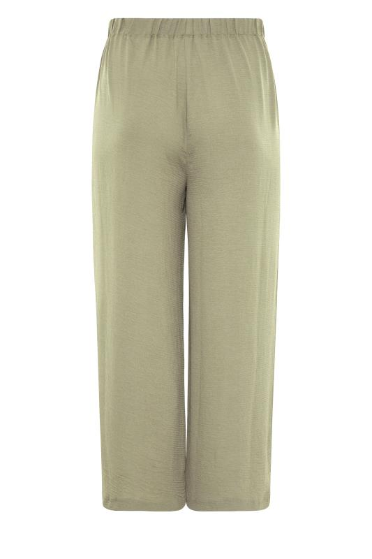 THE LIMITED EDIT Olive Green Wide Leg Trousers_BK.jpg