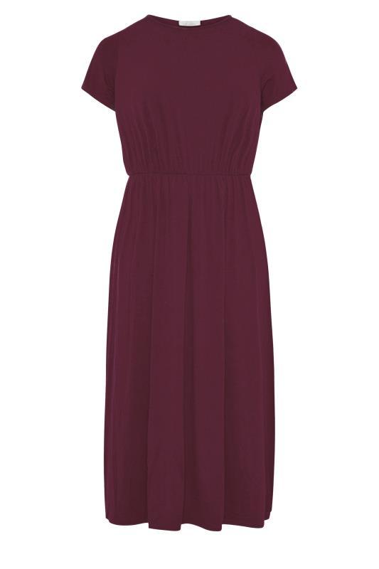 YOURS LONDON Burgundy Pocket Maxi Dress_F.jpg