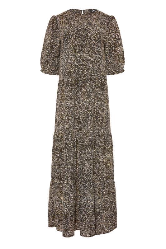 LTS Black Speckled Tiered Midaxi Dress_F.jpg