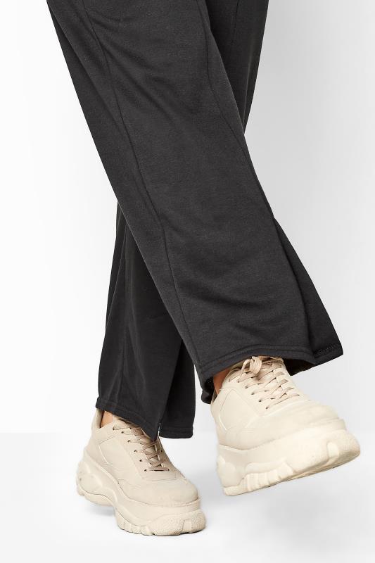 Black Split Hem Straight Leg Joggers