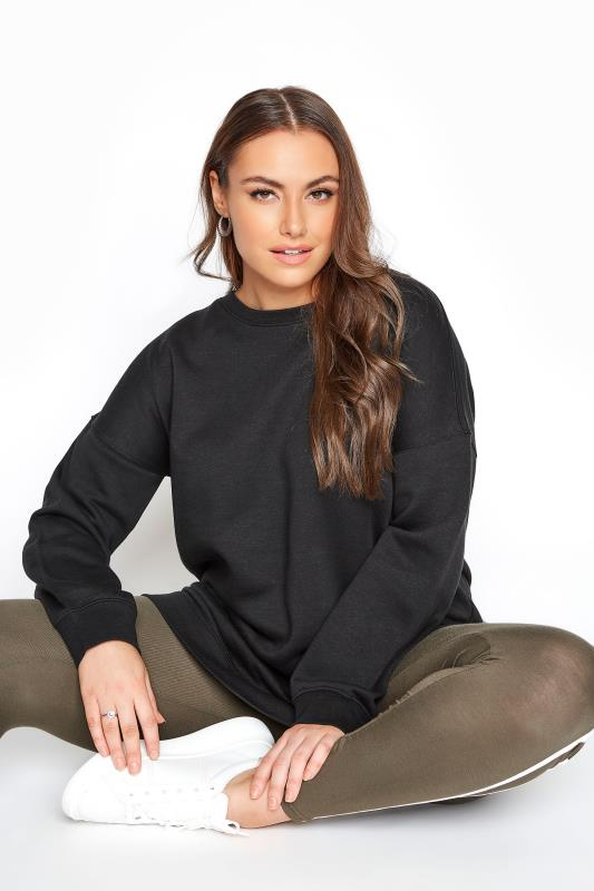 Plus Size  LIMITED COLLECTION Black Cotton Jersey Sweatshirt