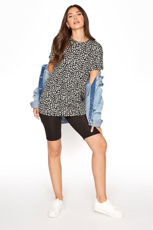 LTS Black Leopard Print T-Shirt