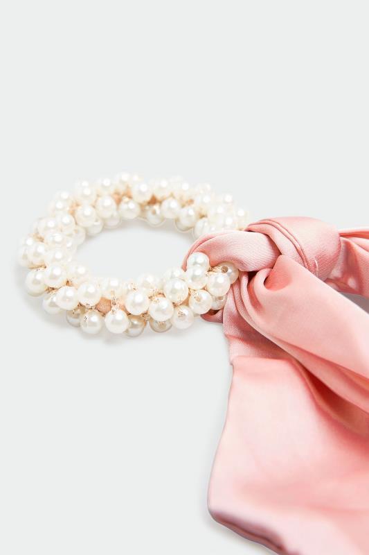 2 PACK Pink Pearl Trim Long Scrunchies_C.jpg