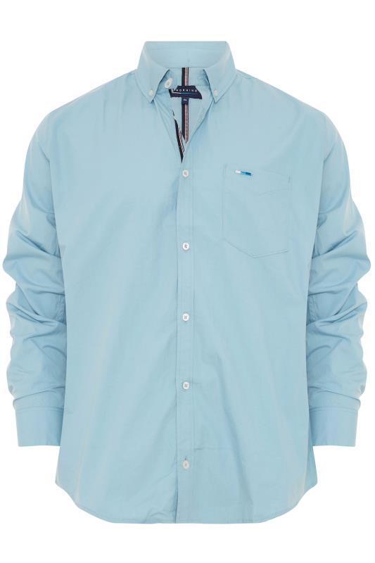 Men's  BadRhino Blue Cotton Poplin Long Sleeve Shirt