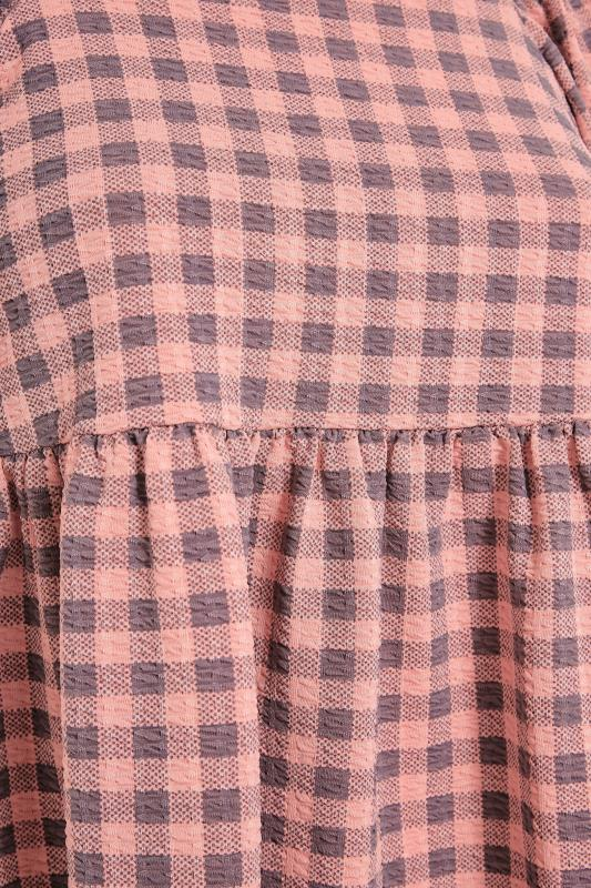 LIMITED COLLECTION Pink Gingham Square Neck Smock Top_S.jpg