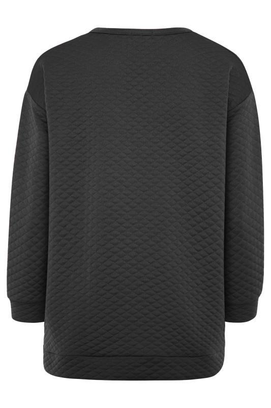 Black Quilted Sweatshirt