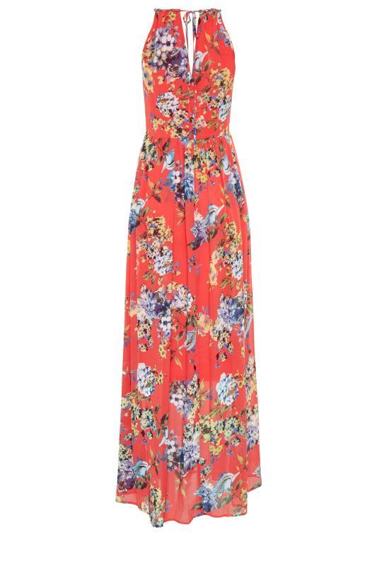 LTS Coral Floral Halter Neck Maxi Dress_bk.jpg