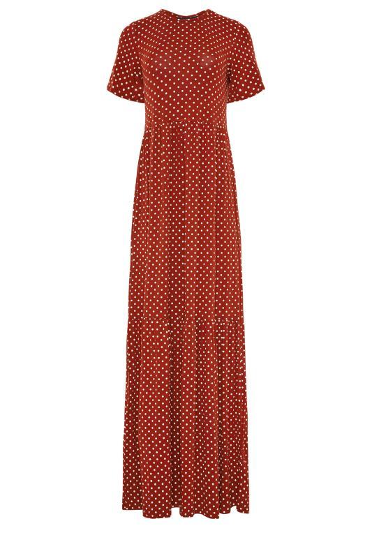 LTS Rust Polka Dot Tiered Midaxi Dress_F.jpg