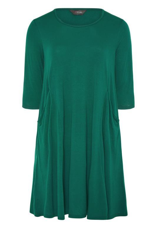 Forest Green Drape Pocket Dress_F.jpg