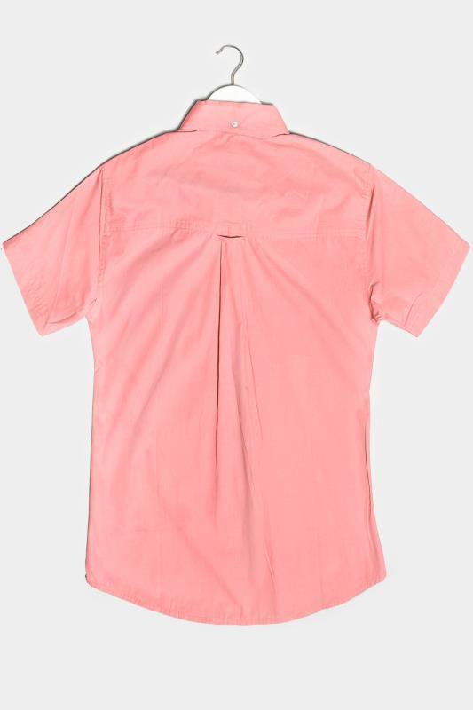 BadRhino Pink Essential Short Sleeve Oxford Shirt
