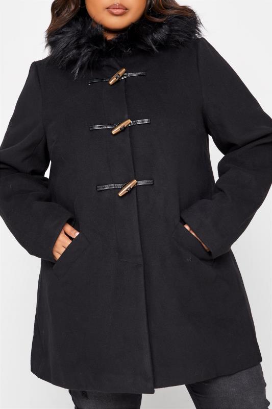 Black Faux Fur Trim Duffle Coat_D.jpg