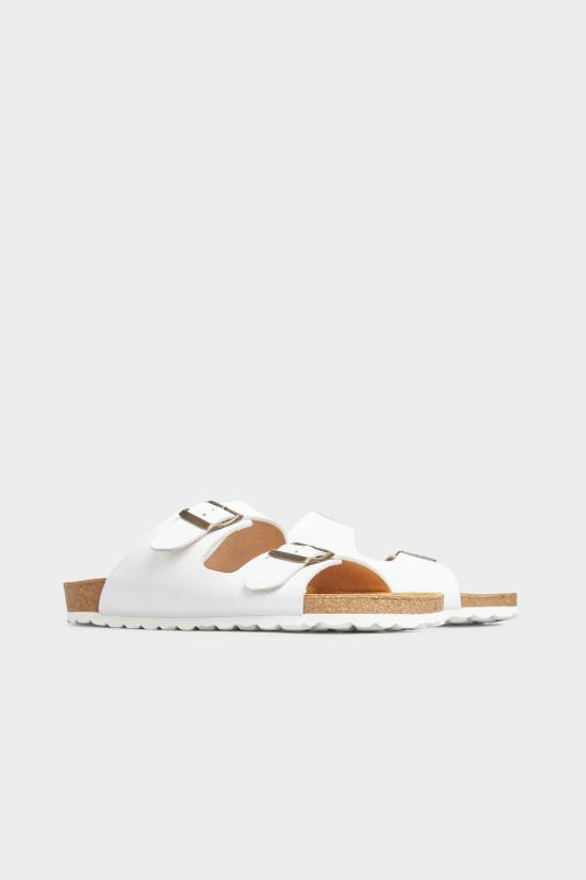 White Leather Two Buckle Footbed Sandals_B.jpg