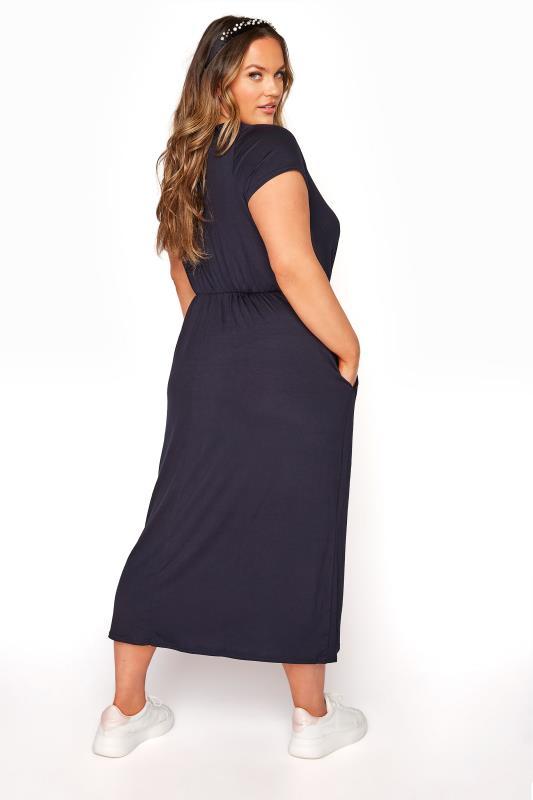 YOURS LONDON Navy Pocket Maxi Dress_C.jpg