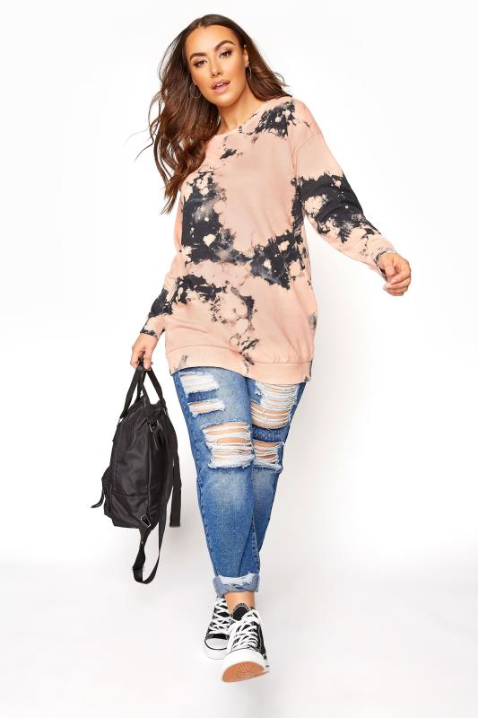 Pink Tie Dye Co-ord Sweatshirt