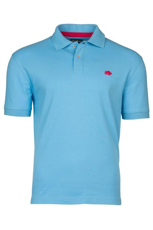 Plus Size  RAGING BULL Blue Signature Polo Shirt