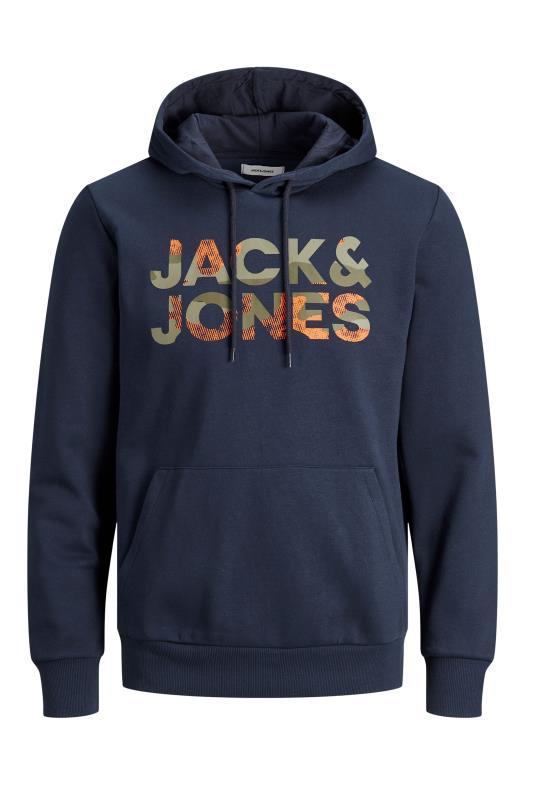 JACK & JONES Navy Logo Hoodie_F.jpg