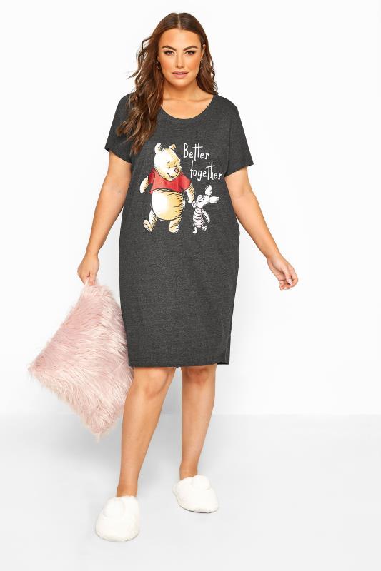Disney Grey Winnie & Piglet Nightdress