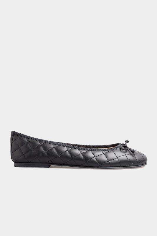LTS Black Leather Quilted Ballet Pumps_B.jpg
