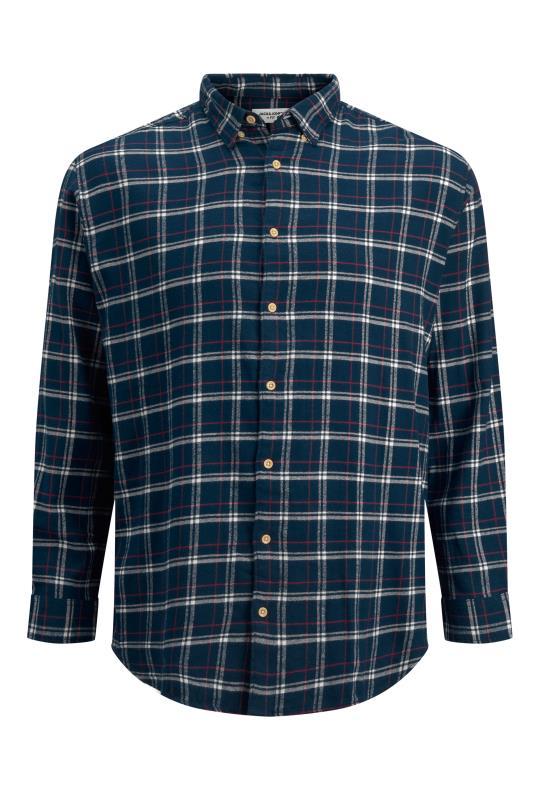 Men's  JACK & JONES Navy Check Jan Shirt