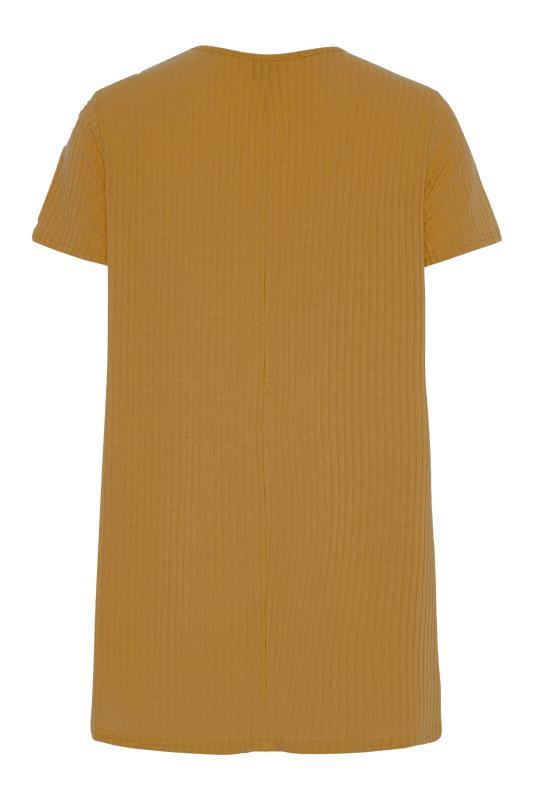 LTS Mustard Yellow Swing Ribbed T-Shirt_BK.jpg