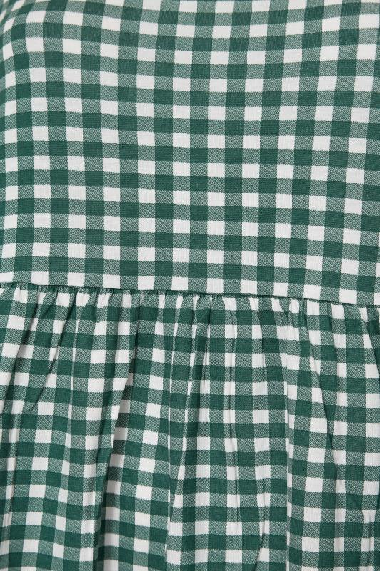 LIMITED COLLECTION Green & White Gingham Smock Top_S.jpg