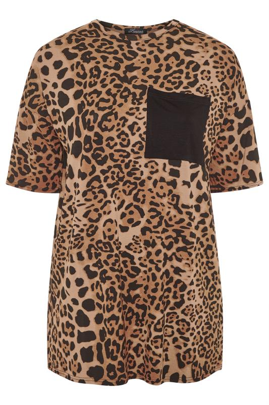 LIMITED COLLECTION Brown Leopard Print Pocket Top