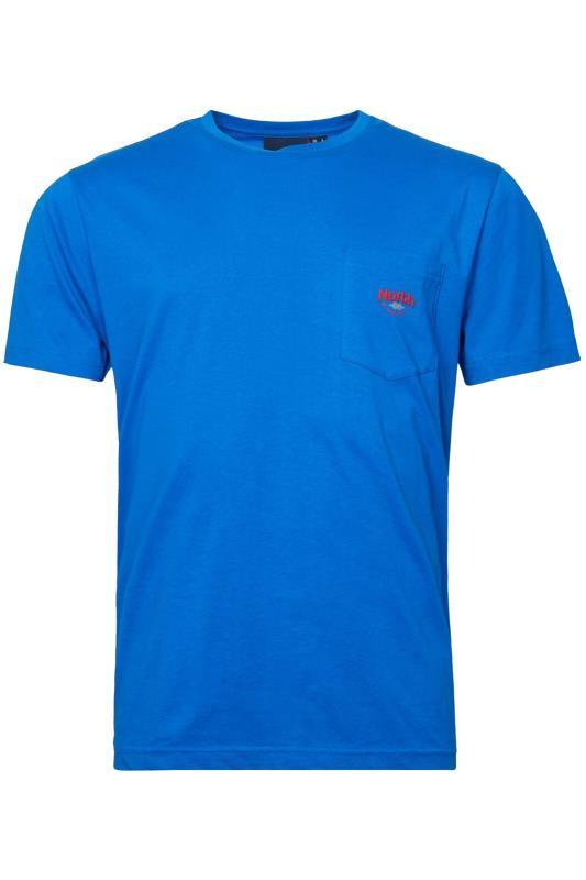 Großen Größen  NORTH 56°4 Blue Logo Pocket T-Shirt
