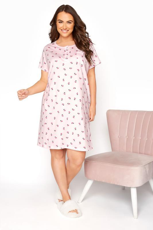 Pink Cherry Placket Nightdress_C.jpg
