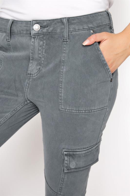 SILVER JEANS Slate Grey Low Rise Skinny Cargo Jeans_D.jpg