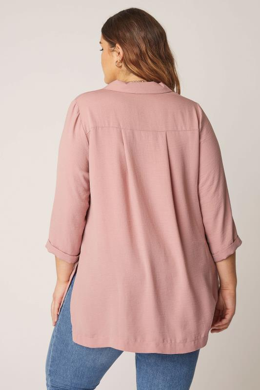THE LIMITED EDIT Pink Open Collar Blouse_C.jpg