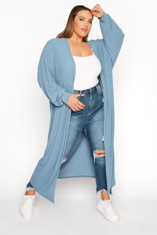 LIMITED COLLECTION Denim Blue Long Cardigan_A.jpg