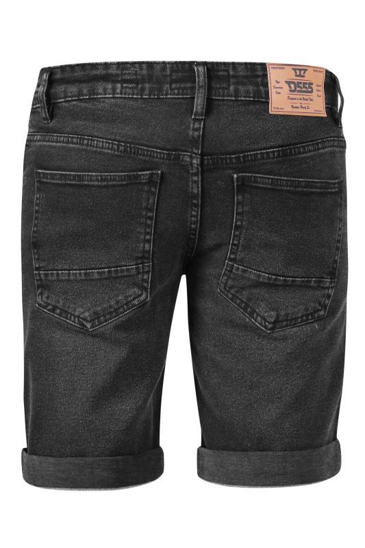 D555 Black Stretch Denim Shorts