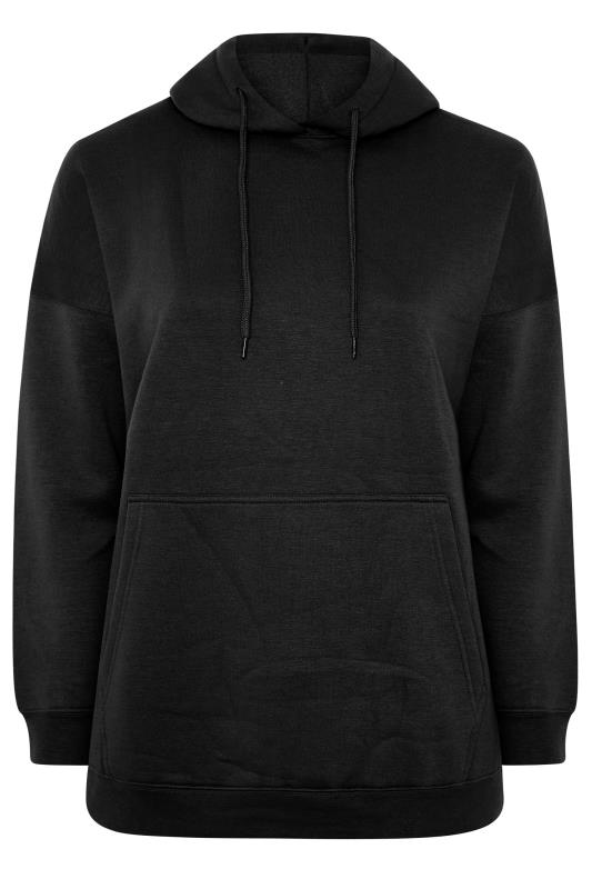 LIMITED COLLECTION Black Cotton Jersey Hoodie