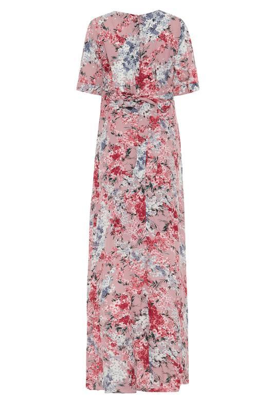 LTS Pink Floral Wrap Front Maxi Dress_BK.jpg