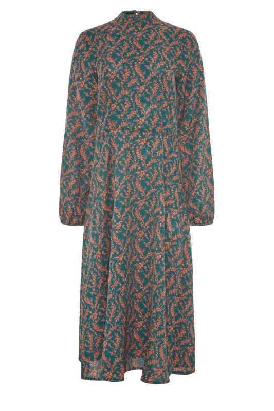 LTS Green Floral Print Fit & Flare Midaxi Dress_F.jpg