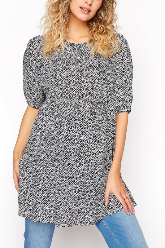 Tall  LTS Maternity Ditsy Tiered Balloon Sleeve Top