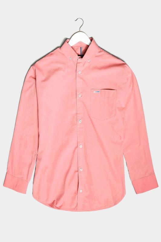 Men's  BadRhino Pink Cotton Poplin Long Sleeve Shirt