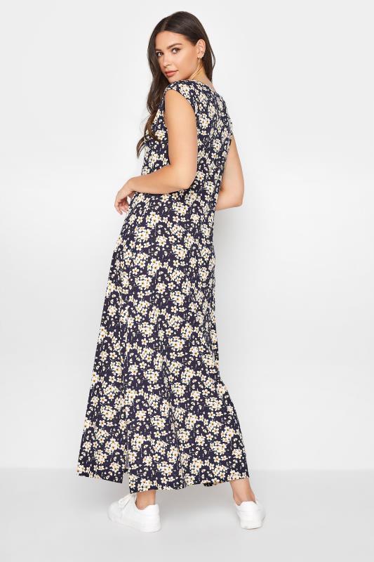 LTS Black Floral Print V-Neck Midi Dress_C.jpg