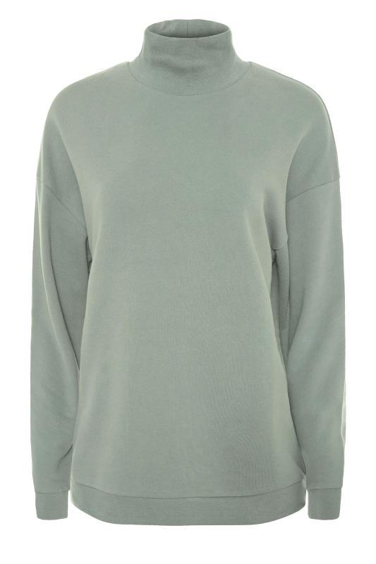 LTS Sage Green Funnel Neck Sweatshirt_F.jpg