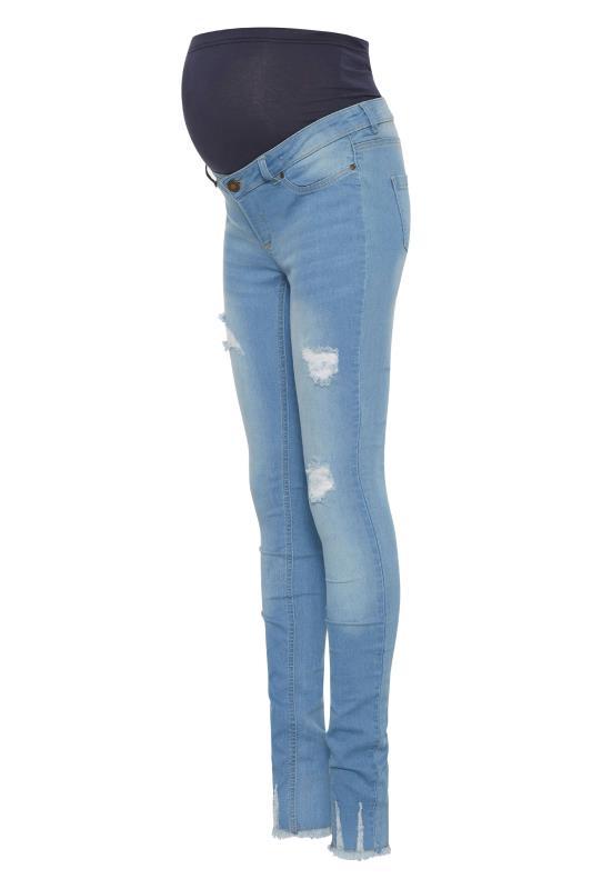 Tall  LTS Maternity Blue Distressed Skinny Jeans
