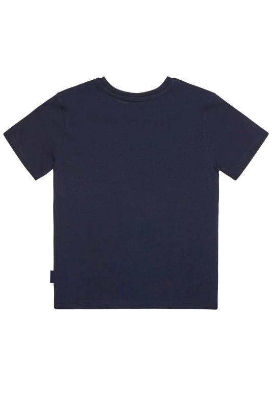 BadRhino Boys Marineblaues Partner-Look T-Shirt mit 'Old Brooklyn' Grafik-Print