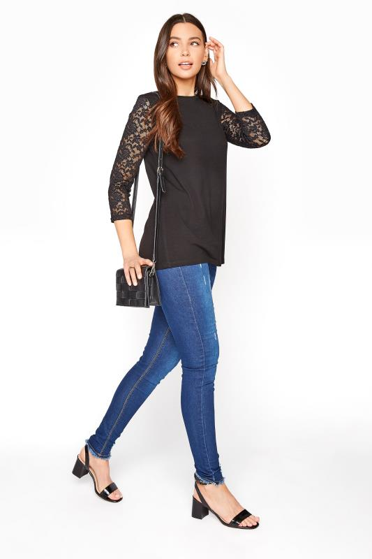 LTS Black Lace Sleeve Top