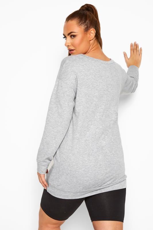 ACTIVE Grey Slogan Sweatshirt