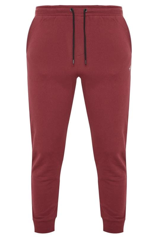 Plus Size Joggers ANOTHER INFLUENCE Burgundy Joggers