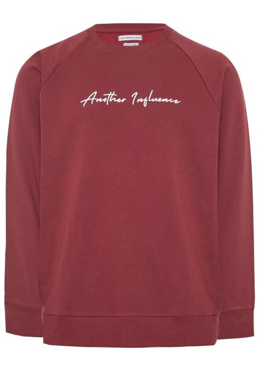 Plus Size Sweatshirts ANOTHER INFLUENCE Burgundy Sweatshirt