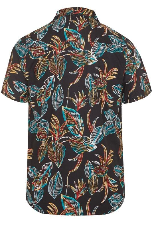 ANOTHER INFLUENCE Black Leaf Print Shirt