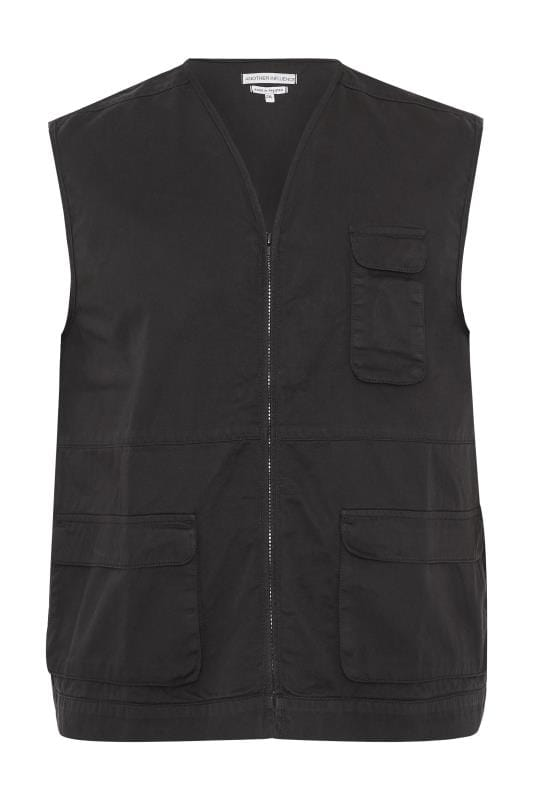 Plus Size Jackets ANOTHER INFLUENCE Black Utility Vest