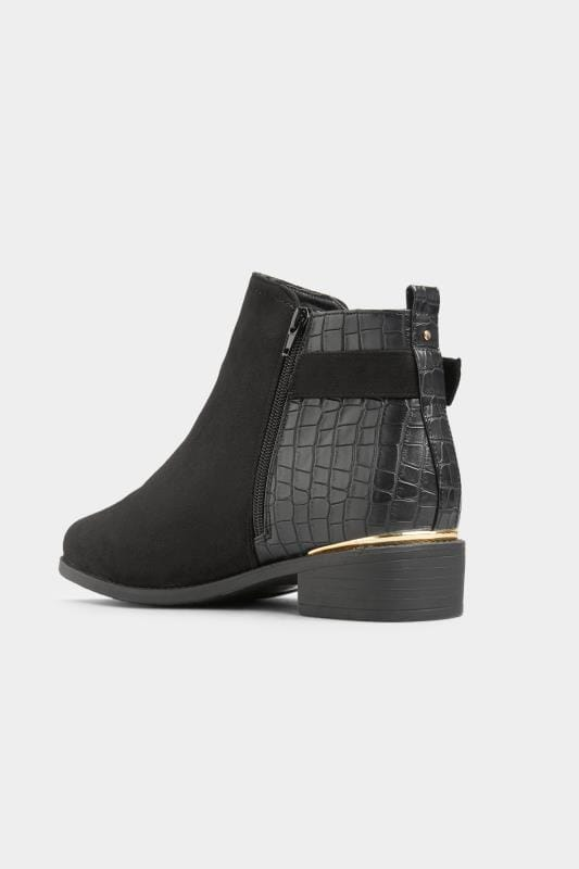 Black Croc Effect Buckle Chelsea Boots In Extra Wide Fit_9ca1.jpg