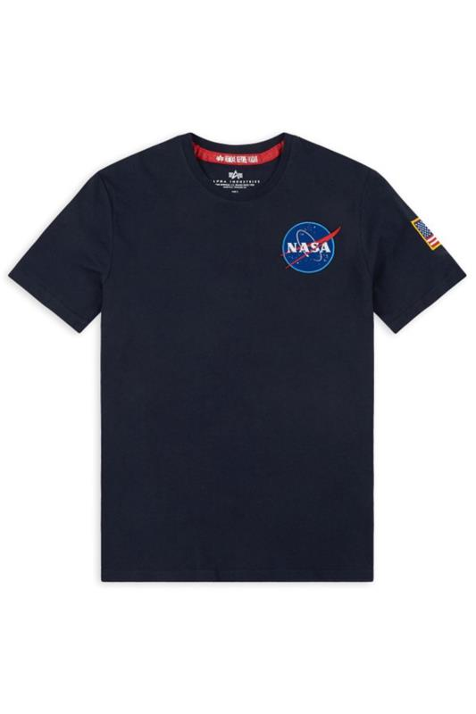 T-Shirts Tallas Grandes ALPHA INDUSTRIES Navy NASA Space Shuttle T-Shirt