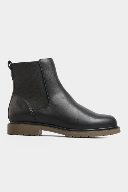 Black Vegan Faux Leather Chunky Chelsea Boots In Extra Wide Fit_2ed1.jpg